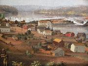 Detail from Oregon City on the Willamette River John Mix Stanley