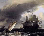 Dutch Vessels on the Sea at Amsterdam Ludolf Bakhuizen