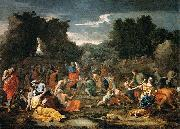 'The Jews Gathering the Manna in the Desert Nicolas Poussin