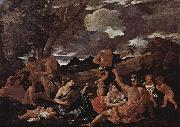 Bacchanal with a Lute-Player Nicolas Poussin