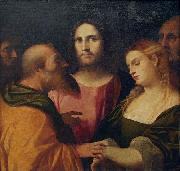 Christ and the Adulteress Palma il Vecchio
