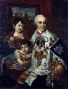 ortrait of count G.G. Kushelev with children Vladimir Lukich Borovikovsky