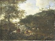 Landscape with cattle Adam Pijnacker