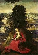 Madonna and Child in a landscape Adriaen Isenbrant