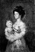 Queen of Etruria and her son Charles of Parma After Francisco de Goya