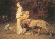 Una and Lion Briton Riviere