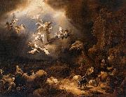 Angels Announcing the Birth of Christ to the Shepherds Govert flinck