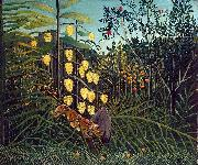 Struggle between Tiger and Bull Henri Rousseau