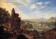 An Extensive Rhenish River Landscape Herman Saftleven