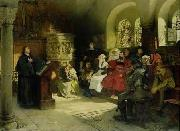 Martin Luther preaching at the Wartburg Hugo Vogel