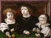 The Three Children of Christian II of Denmark Jan Gossaert Mabuse