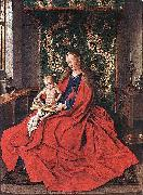 Madonna with the Child Reading Jan Van Eyck