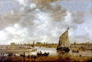 View of Leiden from the Northeast Jan van  Goyen