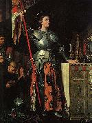 Joan of Arc at the Coronation of Charles VII. Oil on canvas, painted in 1854 Jean Auguste Dominique Ingres