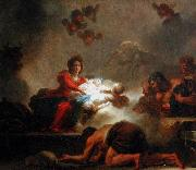 The Adoration of the Shepherds. Jean-Honore Fragonard