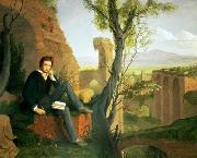 Posthumous Portrait of Shelley Writing Prometheus Unbound Joseph Severn