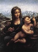 Madonna with the Yarnwinder LEONARDO da Vinci