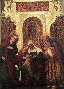 Madonna and Child with Saints Lodovico Mazzolino