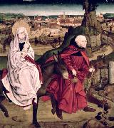 The Flight into Egypt, from the Schotten Altarpiece Master of the Schotten Altarpiece