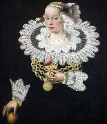 Portrait of Anna Rosina Tanck, wife of the mayor of Lubecker Michael Conrad Hirt