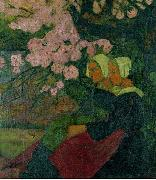 Two Breton Women under an Apple Tree in Flower Paul Serusier