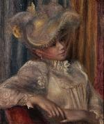 Woman with a Hat Pierre Auguste Renoir