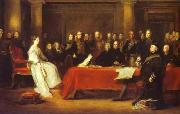 Victoria holding a Privy Council meeting Sir David Wilkie
