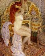 Nude Seated at Her Dressing Table frederick carl frieseke
