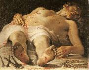 The Dead Christ Annibale Carracci