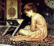 Study at a read desk Frederick Leighton