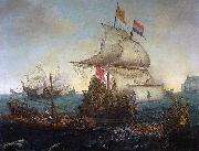 Dutch ships ramming Spanish galleys off the English coast, 3 October 1602 Hendrik Cornelisz. Vroom
