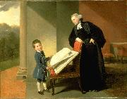 The Reverend Randall Burroughs and his son Ellis Johann Zoffany