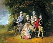 Queen Charlotte with her Children and Brothers Johann Zoffany