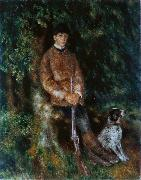Portrait of Alfred Berard with His Dog Pierre Auguste Renoir