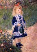 A Girl with a Watering Can Pierre Auguste Renoir