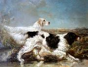 Typical Verner Moore White hunt scene featuring dogs Verner Moore White