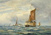 A Breezy Day on the Medway, Kent William Lionel Wyllie