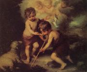 Children with a Shell Bartolome Esteban Murillo
