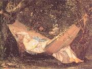The Hammock Courbet, Gustave