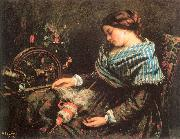 The Sleeping Spinner Courbet, Gustave