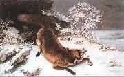 The Fox in the Snow Courbet, Gustave
