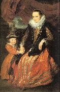 Susanna Fourment and her Daughter Dyck, Anthony van
