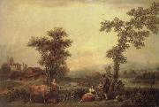Landscape with a Woman Leading a Cow Francesco Zuccarelli