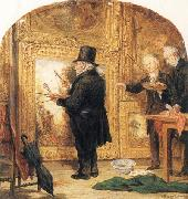 J M W Turner at the Royal Academy,Varnishing Day William Parrott