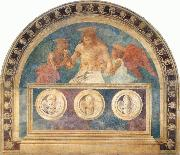 Christ in the Sepulchre with Two Angels Andrea del Castagno