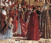The Pilgrims Meet the Pope (detail) CARPACCIO, Vittore