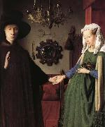 Details of Portrait of Giovanni Arnolfini and His Wife Jan Van Eyck