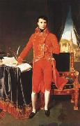 Napoleon Bonaparte in the Uniform of the First Consul (mk04) Jean Auguste Dominique Ingres