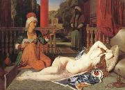 Oadlisque with Female Slave (mk04) Jean Auguste Dominique Ingres