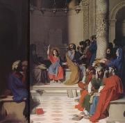 Jesus among the Scribes (mk04) Jean Auguste Dominique Ingres